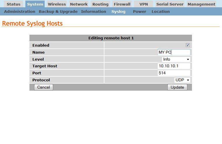 Cybertec Remote System Log